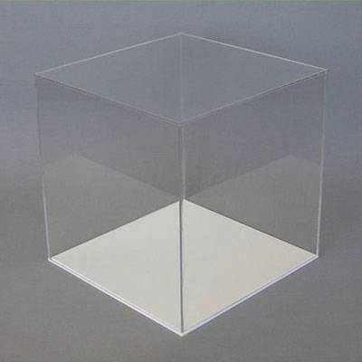 1-Clear Acrylic Display Case with White Base