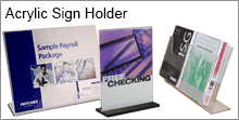 Acrylique Sign Holder