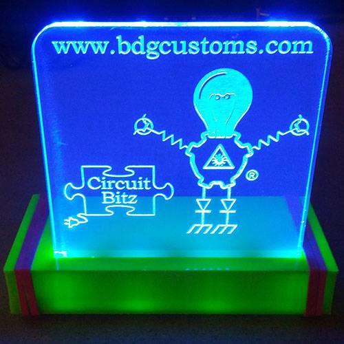 Akryl Oplyste Edge Lit LED tegn