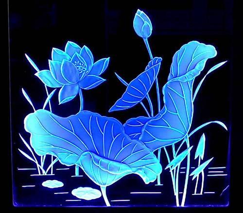 Nye Akryl Edge Lit Skilte Med fuld farve grafik