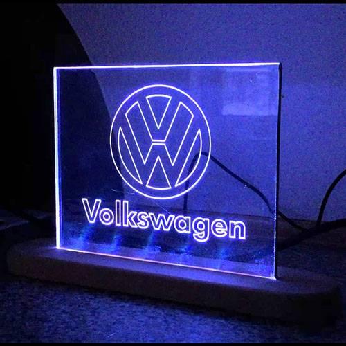 Akryl Oplyste Edge Lit LED Advertising Business Logo Sign