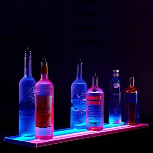 照光LED酒棚とボトルの表示