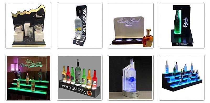 Illuminated Bottle Displays