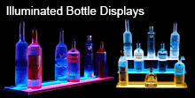 Beleuchtete Bottle Displays