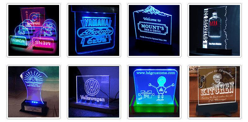 Acrylic Lighted Edge Lit Led Sign