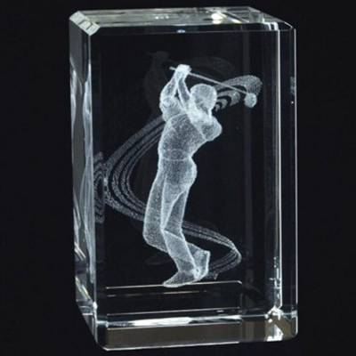 Acrylic Golf Paperweight