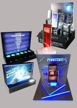 Illuminated Display Stands