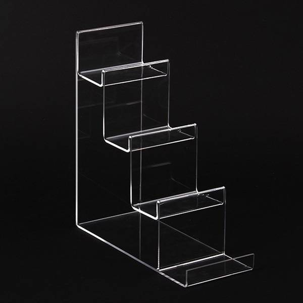 Clear Acrylic 4-tier Wallet Display Stand Holder