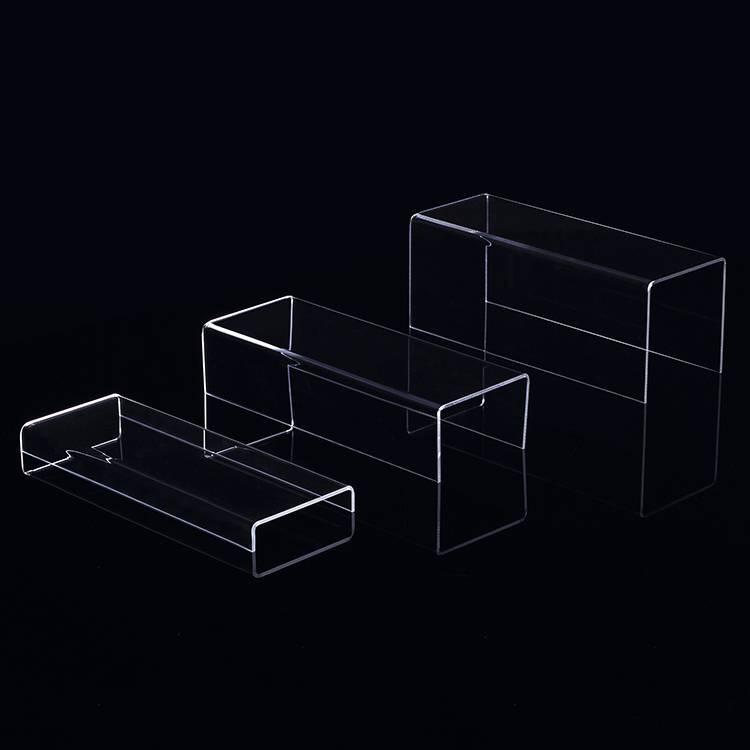 Set of 3 Clear Acrylic Display Risers