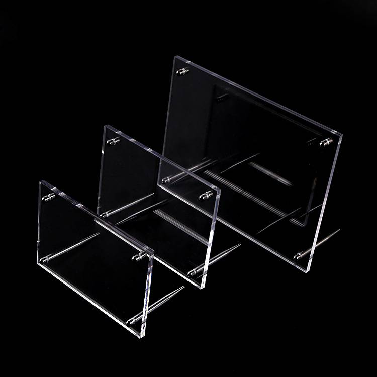Clear Acrylic Photo Frame with Standoff