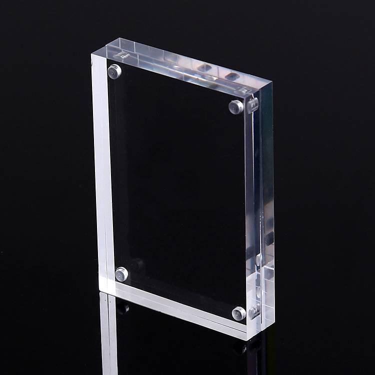 Bureau double face acrylique magnétique affichage de l'image