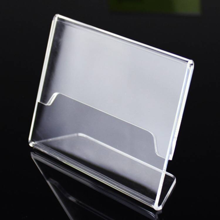 L-Shaped Acrylic Counter Top Sign Holder