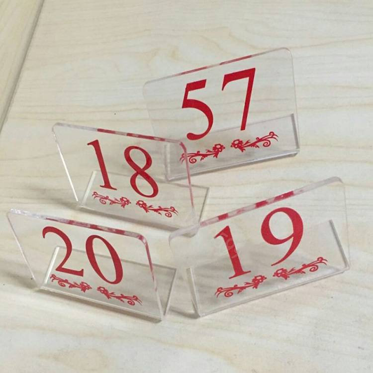 Tent Style Acrylic Table Number