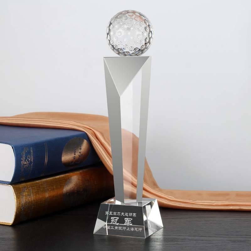Sports Award Trophy Optical Crystal Golf Award Trophy XH0088