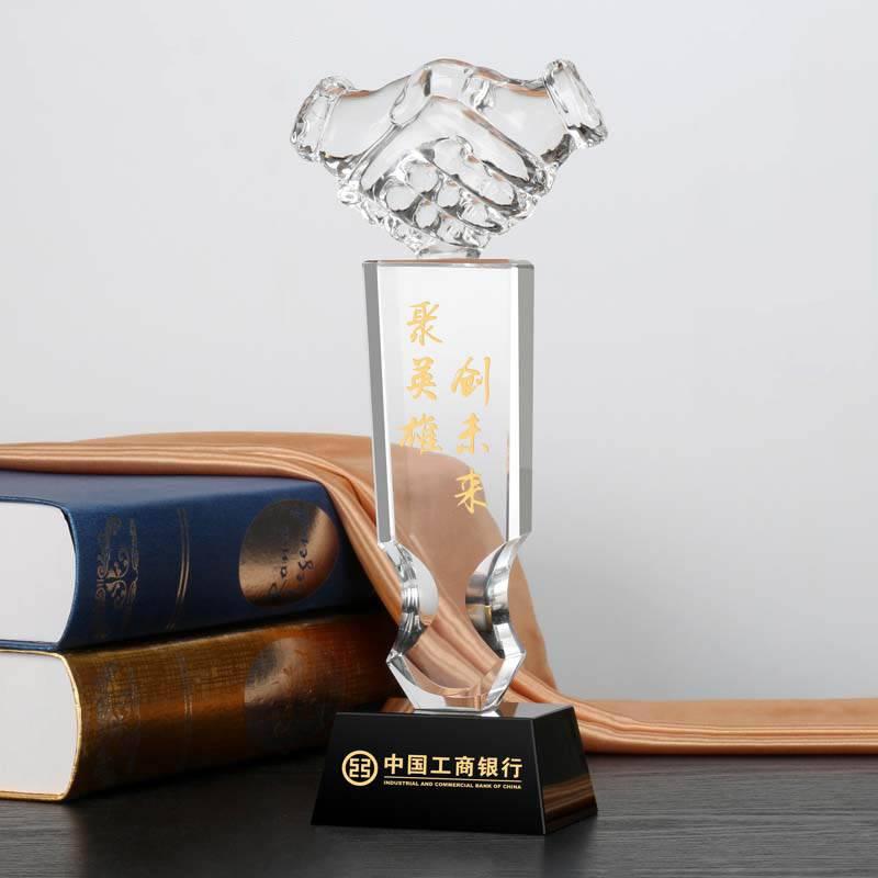 Clear Crystal Award for Black Crystal Base XH0089