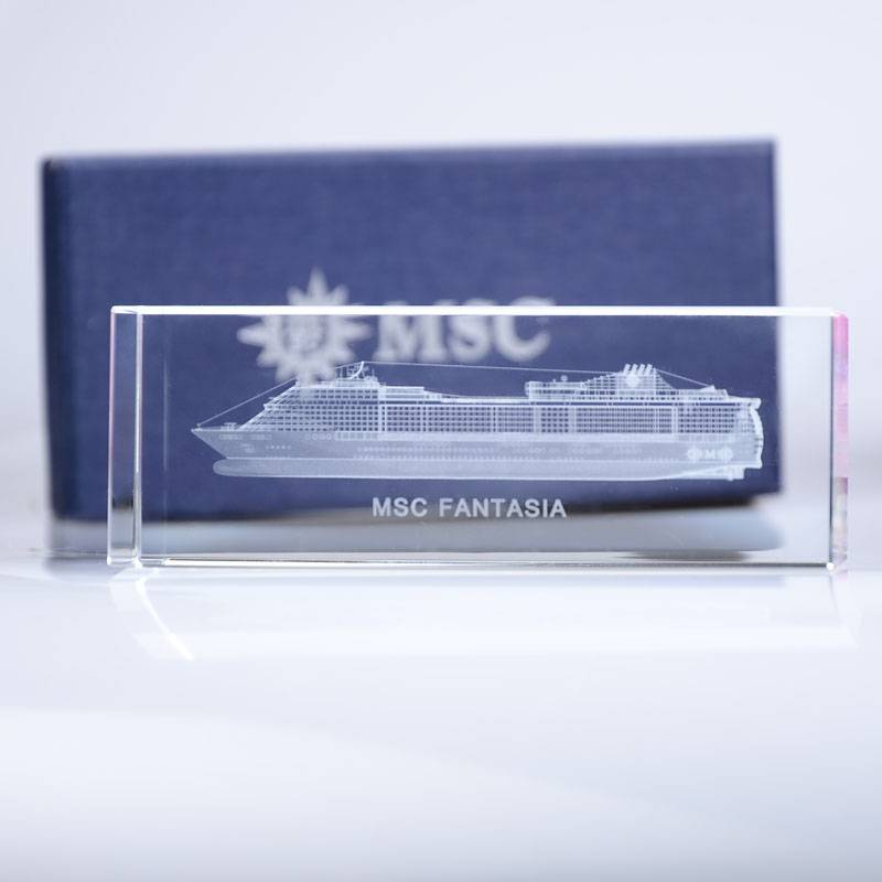 Crystal Laser Engraving Inside Gift Award Trophy XH0101