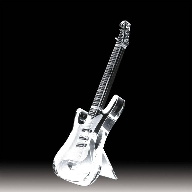 Crystal Guitar Trophy Guitar Award Music Award Musical Award XH0102