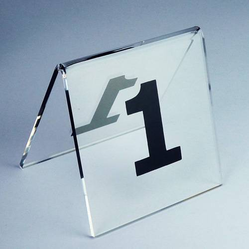 V Shape Clear Acrylic Table Number Holder