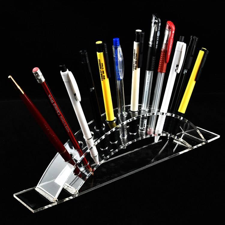 12-Slot Premium Clear Acrylic Holder Kanggo Pen XH0134