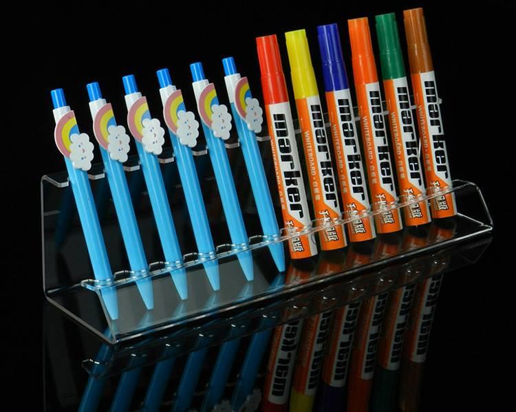 6/12 Pen Вертикальная Премиум Прозрачный акриловый перьевой дисплей стенд XH0150