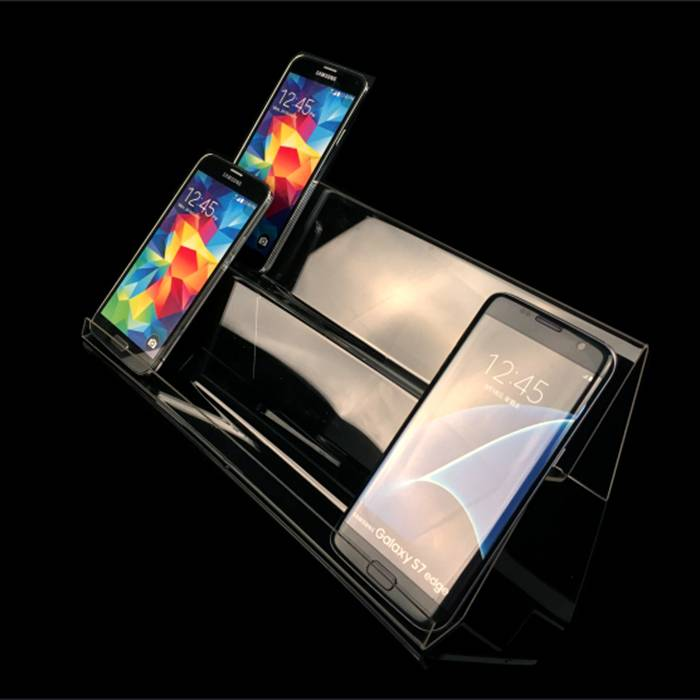 Clear Acrylic Phone Exhibit Rack Holder for Phone