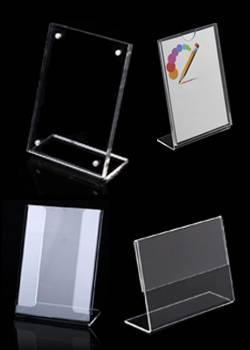 L-Shaped Acrylic Sign Holder
