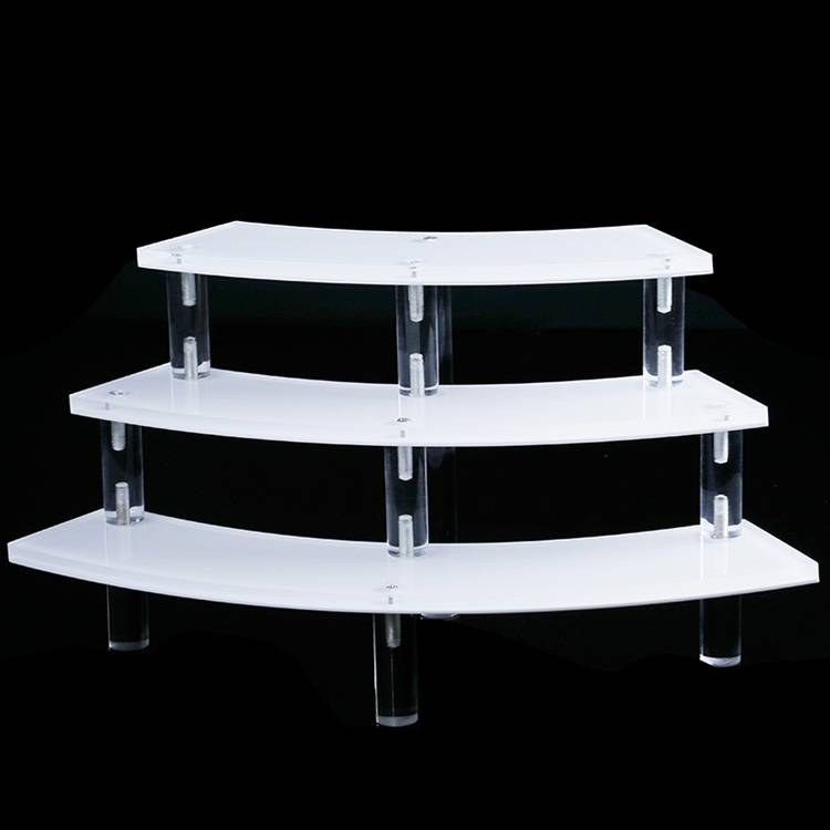 3 Tier Acrylic Semicircle Display Stand Rack