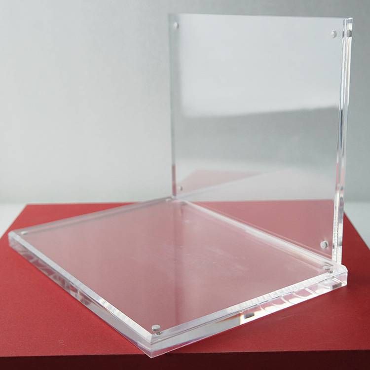 Acrylique transparent en forme de L Countertop Display Stand d'affaires