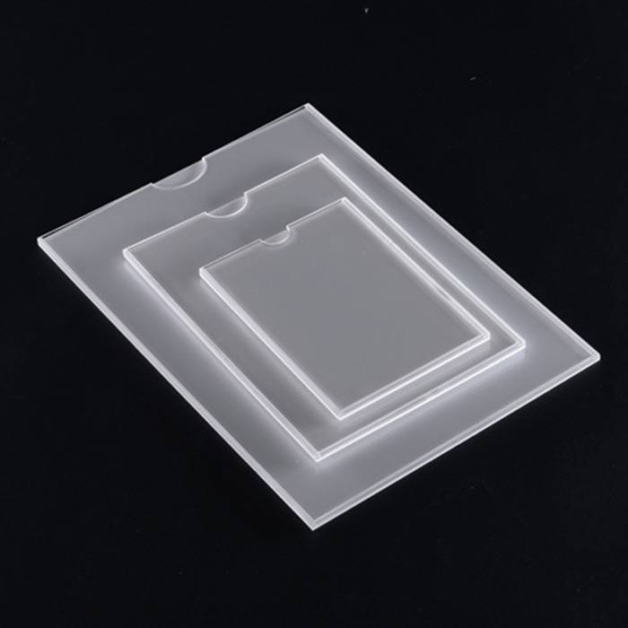 Mount Clear Acrylic Sign Holders With Name Card Business Card Holder